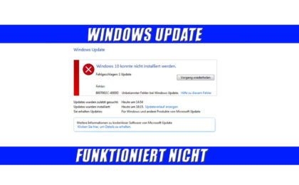 Windows Update funktioniert nicht
